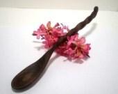 Wooden Tasting Spoon - Black Walnut - Hand Carved - No 2