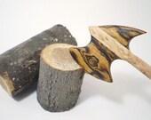 Wooden Hair Stick - Hair Axe - Gunnar - Birdseye Maple and Bocote - No 46