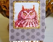 3 Small Owl Matchboxes--Set of 3--FREE SHIPPING