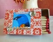 Small Autumn Bird Mix Matchboxes-FREE SHIPPING- Set of 3