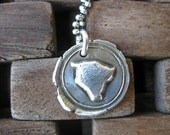 My island fine silver pendant