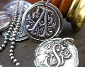 Vintage Initial Pendant by Sistercreation on etsy