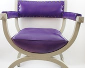 chair 1970s royal purple