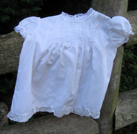 Vintage Baby Dress, Infant Gown, Shabby Chic