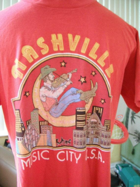 Nashville Tennessee - Music City USA vintage tee - size M