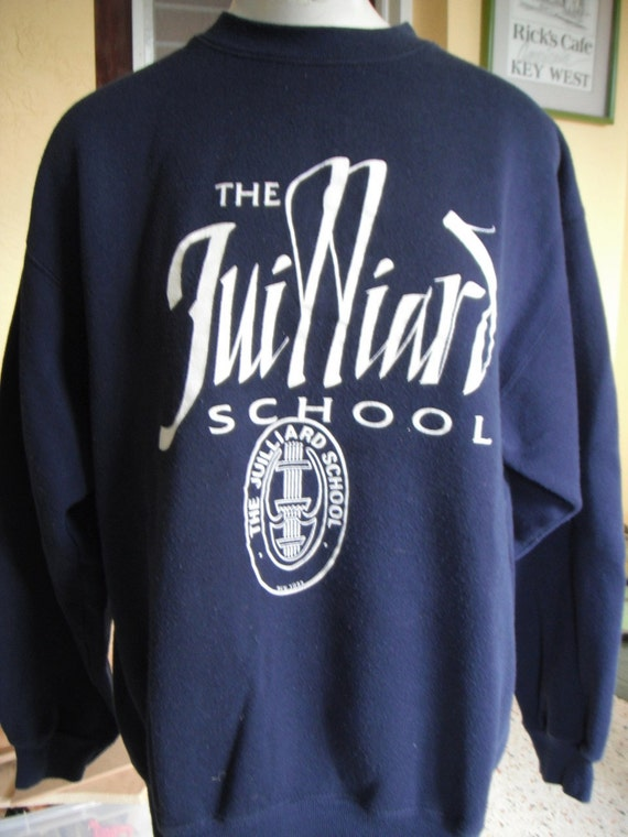 vintage juilliard school sweatshirt navy blue size large