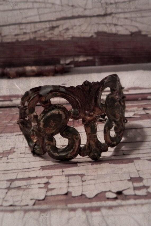 refined rustic gypsy cuff bracelet No.05