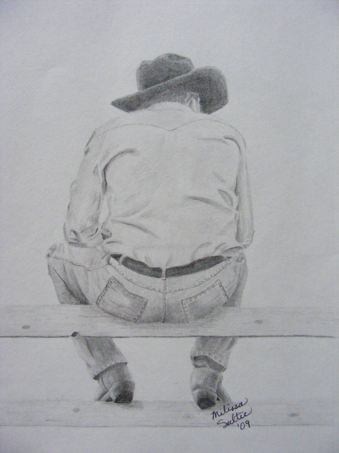 Cowboy sketch drawings - photo#22