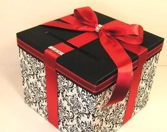 Wedding Card Box Fall Gift Card Box Money Box by bwithustudio