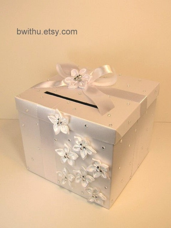 Wedding Gift Money Card : White Wedding Card Box Gift Card Box Money Box Holder-Customize your ...
