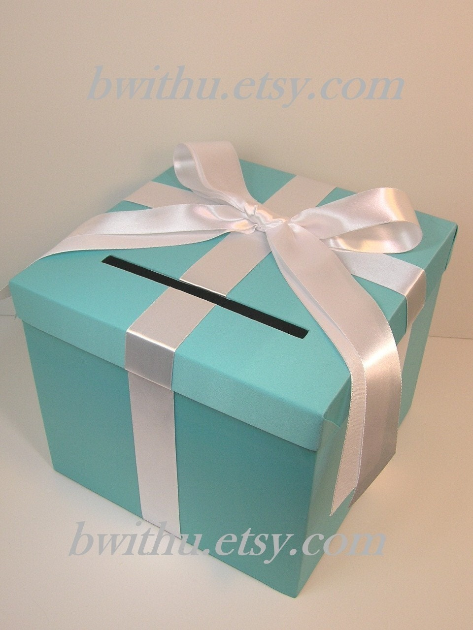 Blue Wedding Card Box Gift Card Box Money Box by bwithustudio