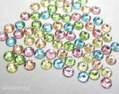 PASTEL MIX Swarovski Crystal 2028 ss16 4mm Rhinestone Flatbacks, Non Hotfix - 72 pcs