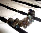 60pct OFF -  Labradorite Shimmer Sterling Silver Necklace LUXE Collection