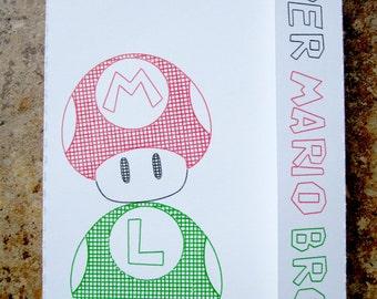 Super Mario Mushrooms - Mini Motif Notebook
