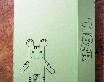 Tiger & Bunny style Tiger Doll (Green Ver.) - Mini Motif Notebook