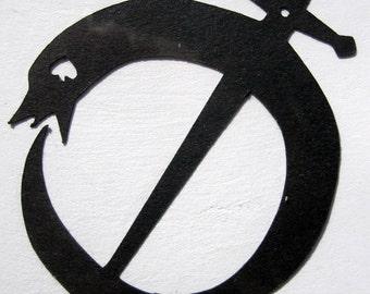 Tiger & Bunny, Plain Ouroboros Logo - Custom Cut Minimark