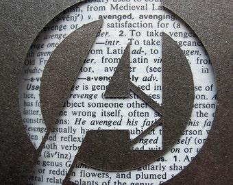 Avengers Logo - Custom Cut Bookmark