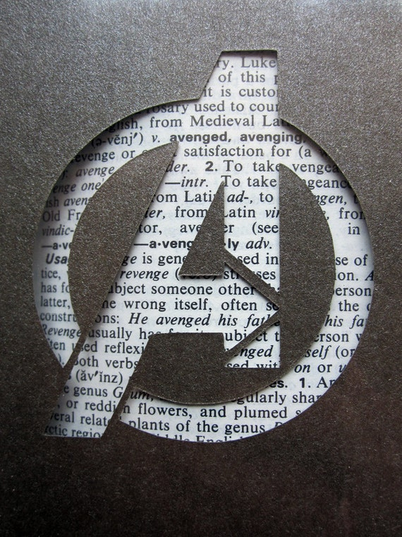 Avengers Logo - Custom Cut Bookmark