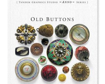 Old Buttons Book by Sylvia LLewelyn (A Guide to Antique and Vintage Buttons)