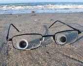 English Multi Sea Glass Photography 5x7 Print -SEE GLASS- English sea glass, English multis, beach glass, blue, eyes, eye glasses, whimsical