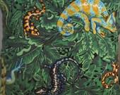 Tropical Gecko and Friends, Handmade Coastal Decor Pillow
