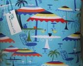 Tropical Resort Umbrellas Handmade Pillow Coastal Decor