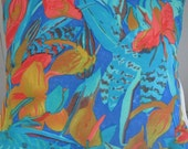 Touch of the Tropics Handmade Decorative Pillow - Faux Down