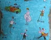 Flamingos Gone Wild Decorative Handmade Tropical Pillow