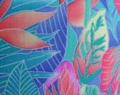 Tropical Island Colors Decorative Handmade Pillow, Island Style Decor Palms, Hibiscus