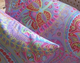 Kaffe Fassett Paisley Tropical Print Two Pillow Set Stylish Unique Handmade