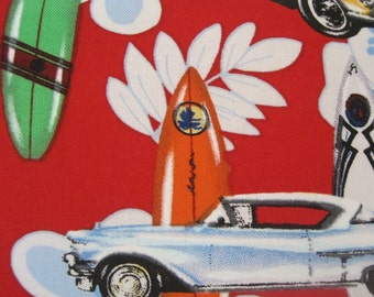 Catch a Wave- Surfboard, Vintage Cars - Handmade Pillow - Surfs Up, Dude