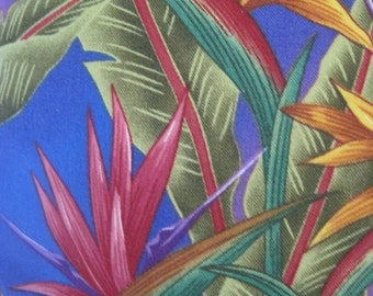 Tropical Flowers, Leaves Handmade Decorative Pillow