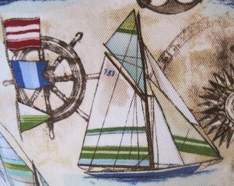 Here's to Fair Winds, Sail Away, Handmade Nautical Pillow Yachts, Sailboats