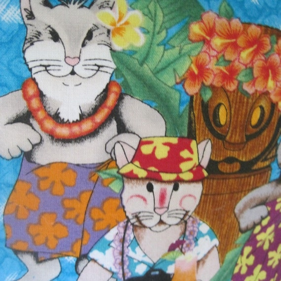 Cool Cats Tropical Style Handmade Pillow, Great Gift