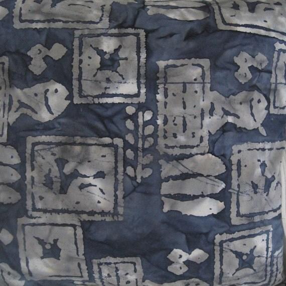 Seaside Style Made Simple, Handmade Batik Decorative Pillow