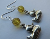 Rubber Ducky Earrings - Yellow, Silver