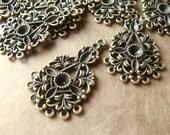 6pcs chandelier components antique bronze