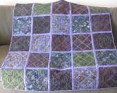Hand-dyed Batik Quilt