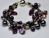 Amethyst and Pearl Bracelet