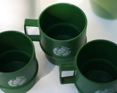 50 percent off Trio of 1970s Tupperware mugs
