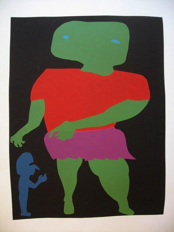 Man Woman, Original Silkscreen Print, Artist's Proof,  Harry Stooshinoff
