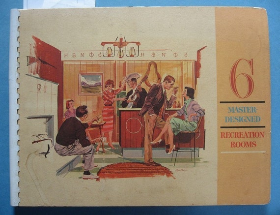 1960s retro interior design guide for recreation by oldpaperwolf