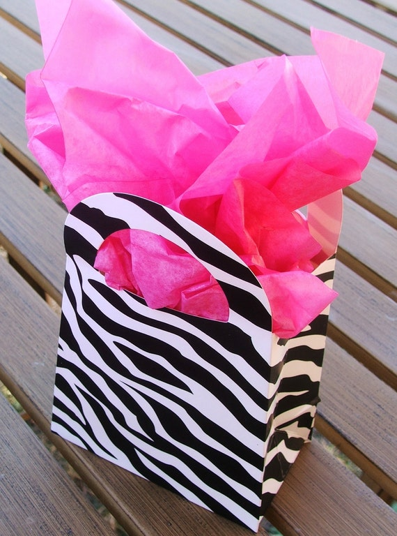 Zebra Print Purse Favor Boxes - Set of 10