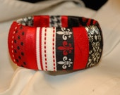 Red White and Black Bangle