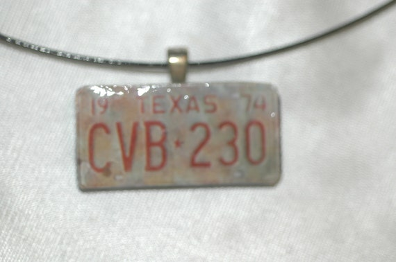 Texas License Plate Choker Necklace