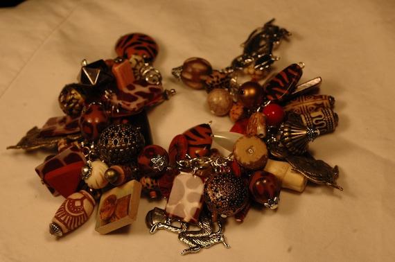 Chunky Monkey II safari chunky charm bracelet full of monkeys