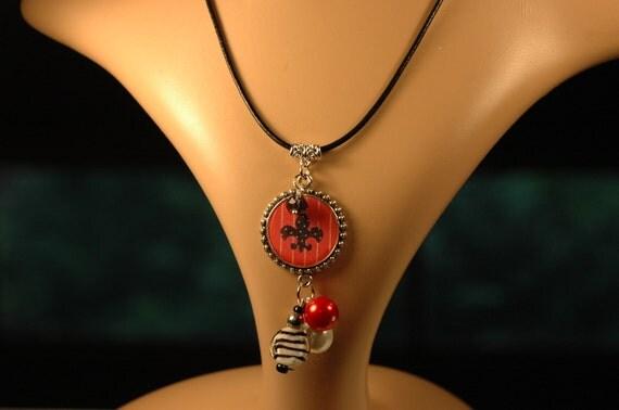 I Love Paris Fluer De Lis Charm Necklace