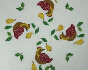Partridge in a Pear Tree ... Counted Cross Stitch