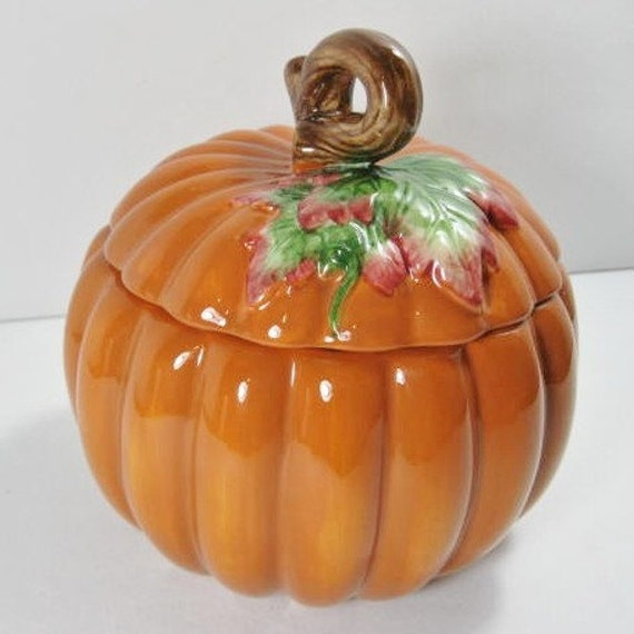 Ceramic Pumpkin ... Candy Dish ... Bowl ... Planter ... Cookie