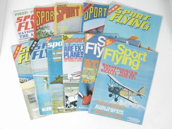 Sport Flying magazines   11 magazines 1969 to 1973